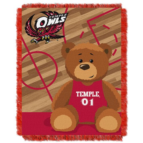 picture of NCAA Temple Owls Fullback Woven Jacquard Baby Throw Blanket, 36x46-Inch