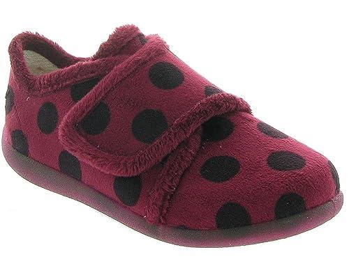 Bellamy Zapatillas de estar Por Casa de Lona Niñas, Rosa (Granate), 32 EU: Amazon.es: Zapatos y complementos