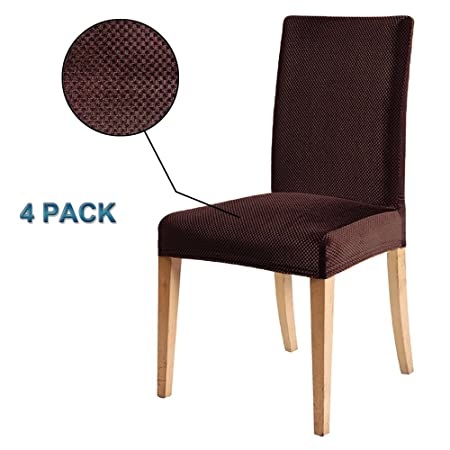 Superieur Stretchy Shiny Velvet Chair Cover Slipcovers 4 PCS Jacquard Thick Modern  Protector Slipcover,Washable Removable