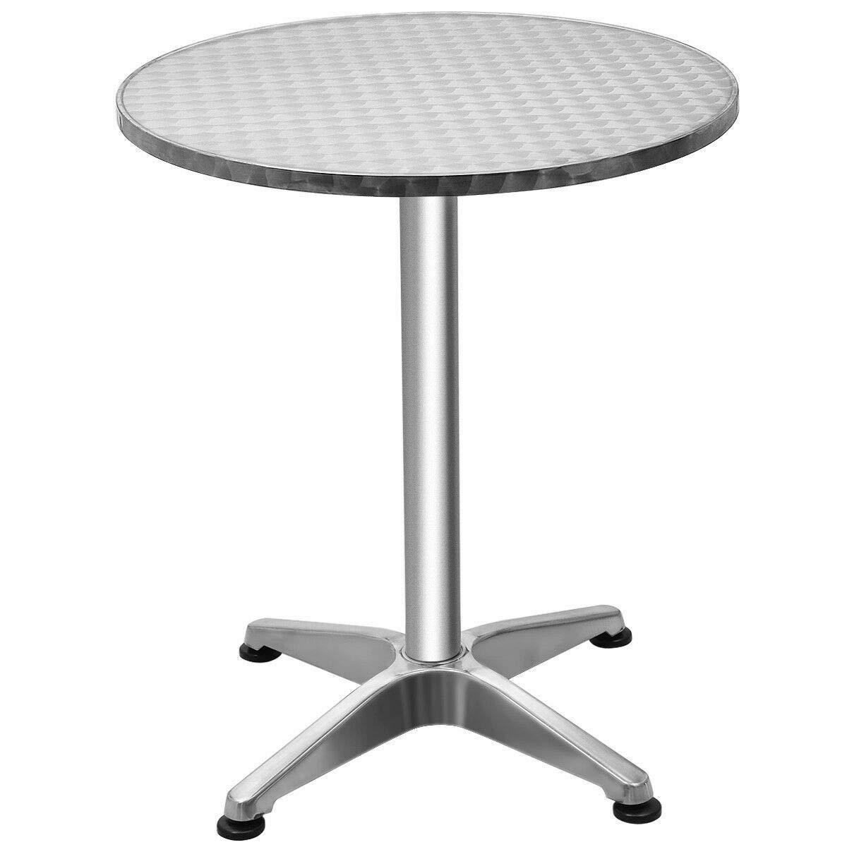 (NEW Patio & Garden Furniture) Aluminium 23 1/2'' Round Top Bar Table Indoor Outdoor Bistro Pub w/Base New by (NEW Patio & Garden Furniture)