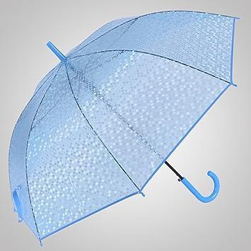 Imitación pescado Escalas Umbrella Ganchos Paraguas de mango largo Paraguas transparente Abrir automáticamente el paraguas Princesa