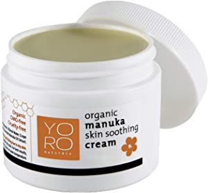 YoRo Naturals, Organic Manuka Skin Soothing Creamy Balm, Instant Relief From Eczema and Psoriasis (2 OZ)