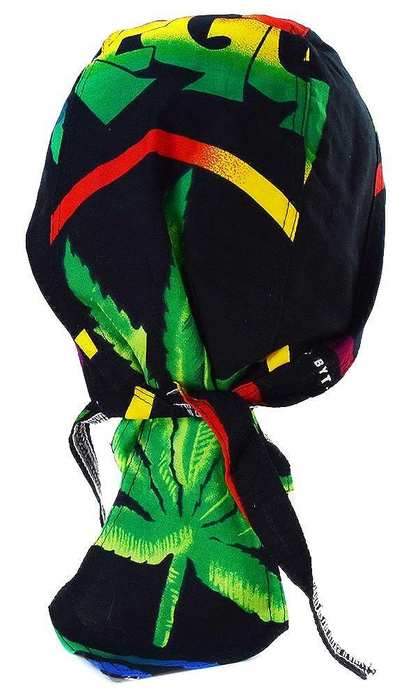 Bandana homme femme Rasta Jamaique Afrique Reggae Coton de qualite feuille canabis marijuana one love