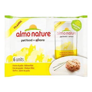 Almo nature - Producto Natural Gato Classic, 6 x 55 g (Filete de Pollo 6 x 55 g): Amazon.es: Productos para mascotas