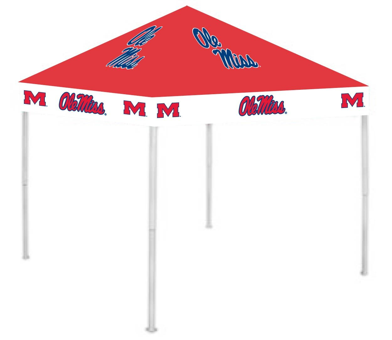 Rivalry RV275-5000 9' x 9' Polyester Fabric Mississippi Canopy B001AZR21Y 9 x 9|Ole Miss Rebels Ole Miss Rebels 9 x 9