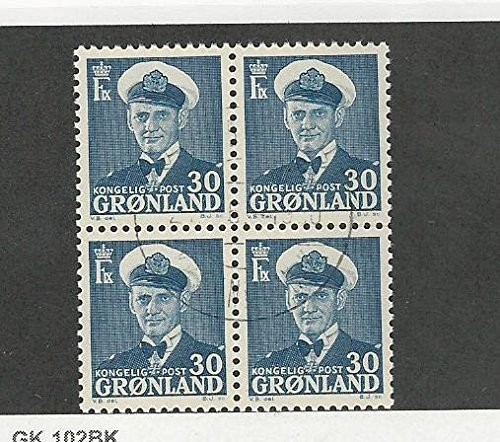 Greenland, Postage Stamp, 33 Block Used, 1950