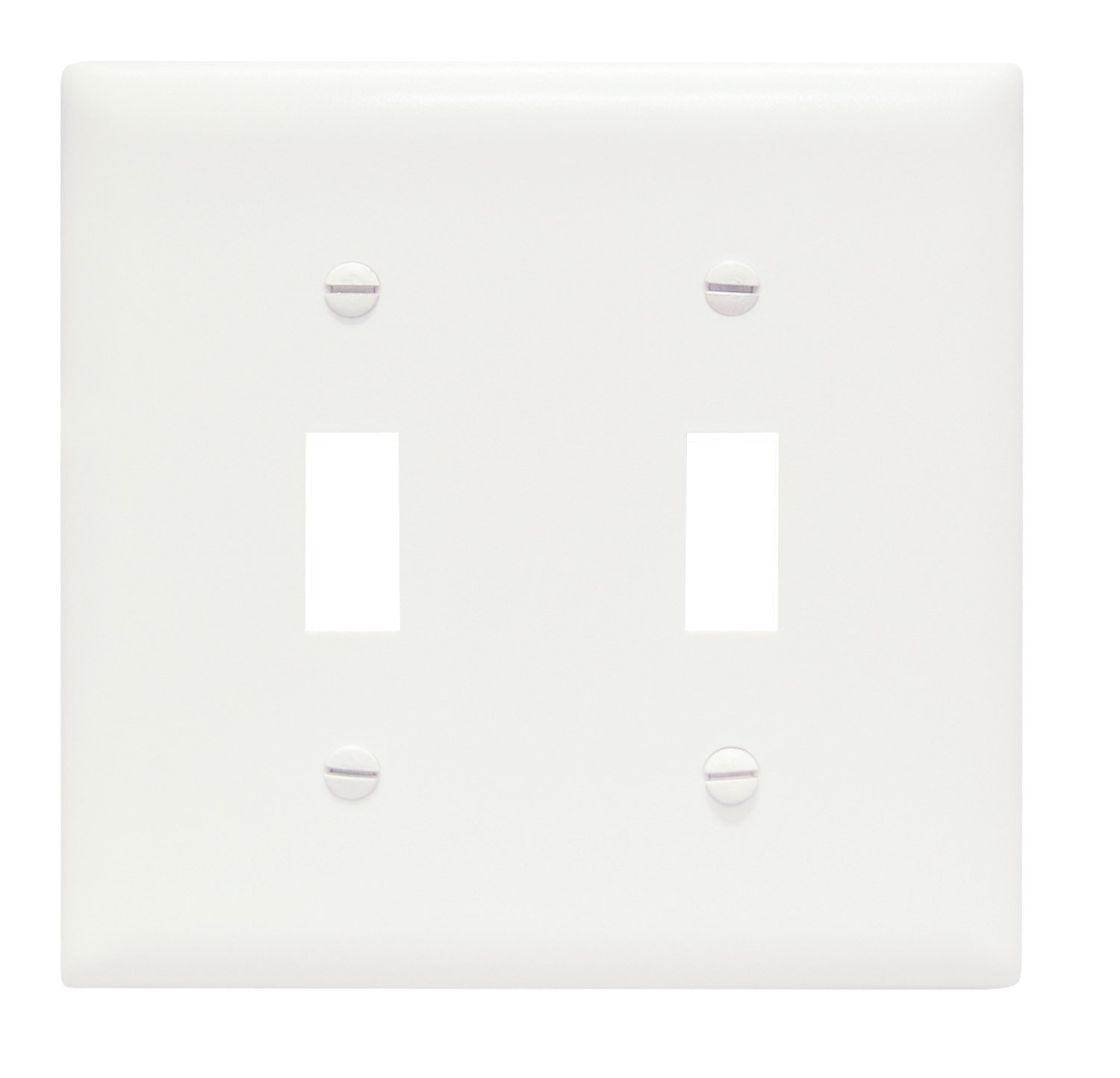 Pass /& Seymour TP826LACC12 Trade Master Nylon Wall Plate with One Duplex and One Decorator Opening Two Gang Legrand Light Almond Pass /& Seymour//Legrand