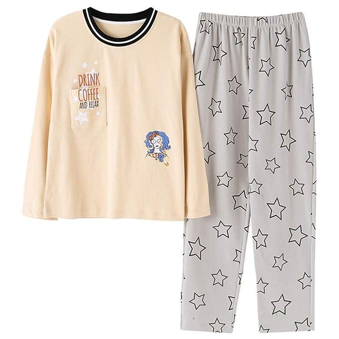 Meaeo Pijama Dulce De La Señora del Estudiante del Algodón, Sistemas del Pijama, Vistiendo