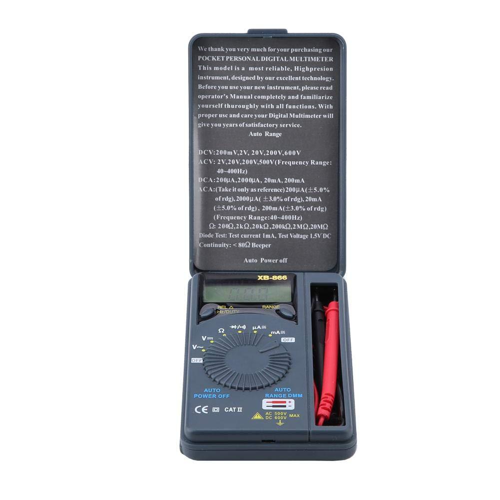 Pocket Digital Multimeter, Akozon XB-868 Auto Range Pocket Digital Handheld Multimeter AC/DC Tester for Measuring Current Voltage Diode Triode Auto Power ...