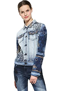 Desigual Womens Blue Denim Blondi Blues Jacket