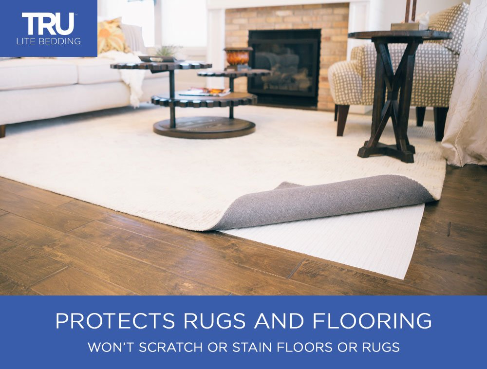 TRU Lite Rug Gripper - Non-Slip Rug Pad for Hardwood Floors - Non Skid Washable Furniture Pad - Lock Area Rugs, Mats, Carpets, Furniture in Place - Trim to fit Any Size - 2' x 8' by TRU Lite Bedding (Image #6)