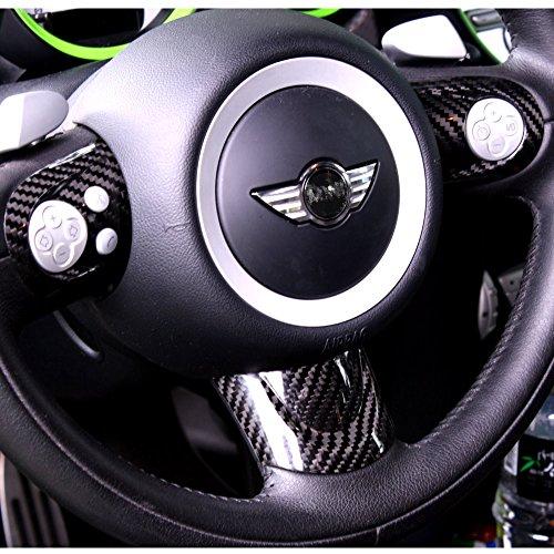 《 BAR Autotech 》 Decorative Carbon Fiber Steering Wheel Covers for Mini Cooper R56 S Sport type JCW