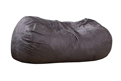 Super Amazon Com Latitude Run Bean Bag Sofa Charcoal Gray Sac Onthecornerstone Fun Painted Chair Ideas Images Onthecornerstoneorg