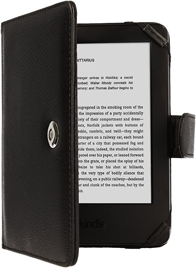 Techgear® Kindle PU Leather Folio Case Cover with Magnetic Clasp for Amazon Kindle eReader with 6 Inch Screen [Book Style] * * with Free Screen Guard Included * *: Amazon.es