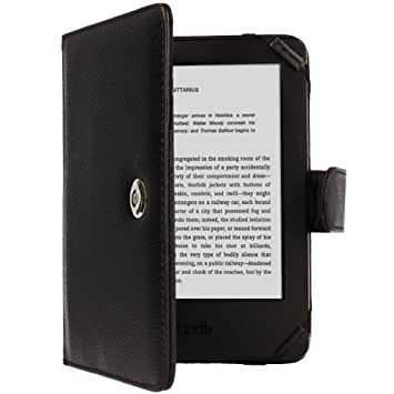Techgear® Kindle PU Leather Folio Case Cover with Magnetic Clasp ...