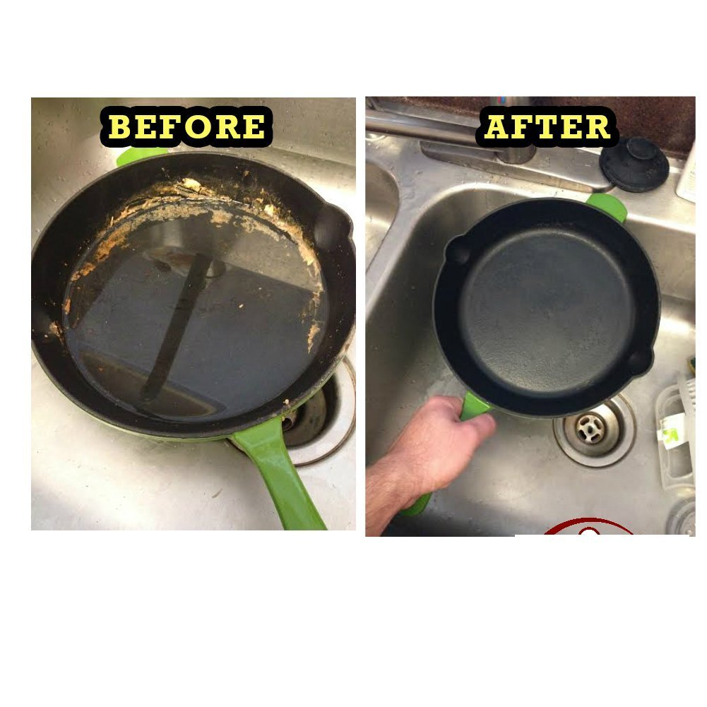 The Ringer - The Original Stainless Steel Cast Iron Cleaner, Patented XL 8x6 inch Design by The Ringer (Image #5)