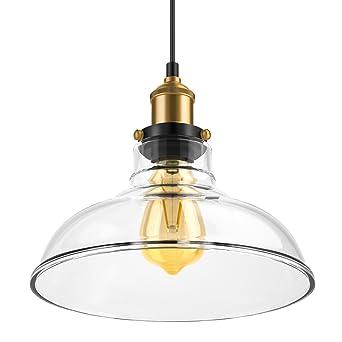 Lámpara de techo colgante vintage, lámpara industrial de hoja de ...