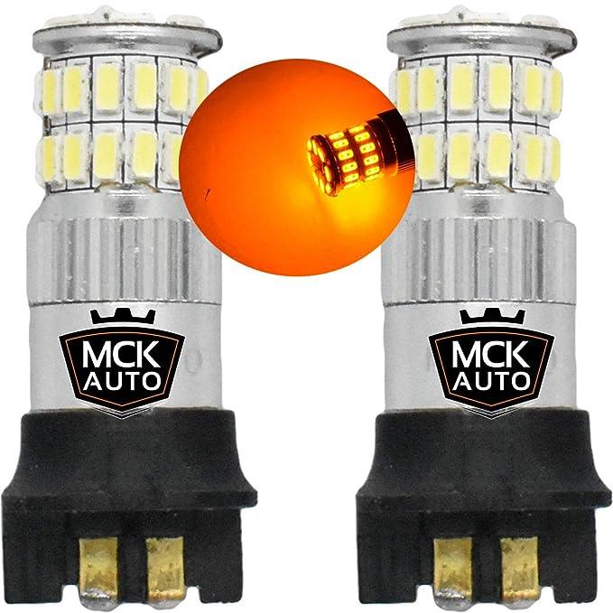 3 opinioni per Lampadine LED PWY24W 36SMD per indicatori di direzione di Canbus, colori ambra,