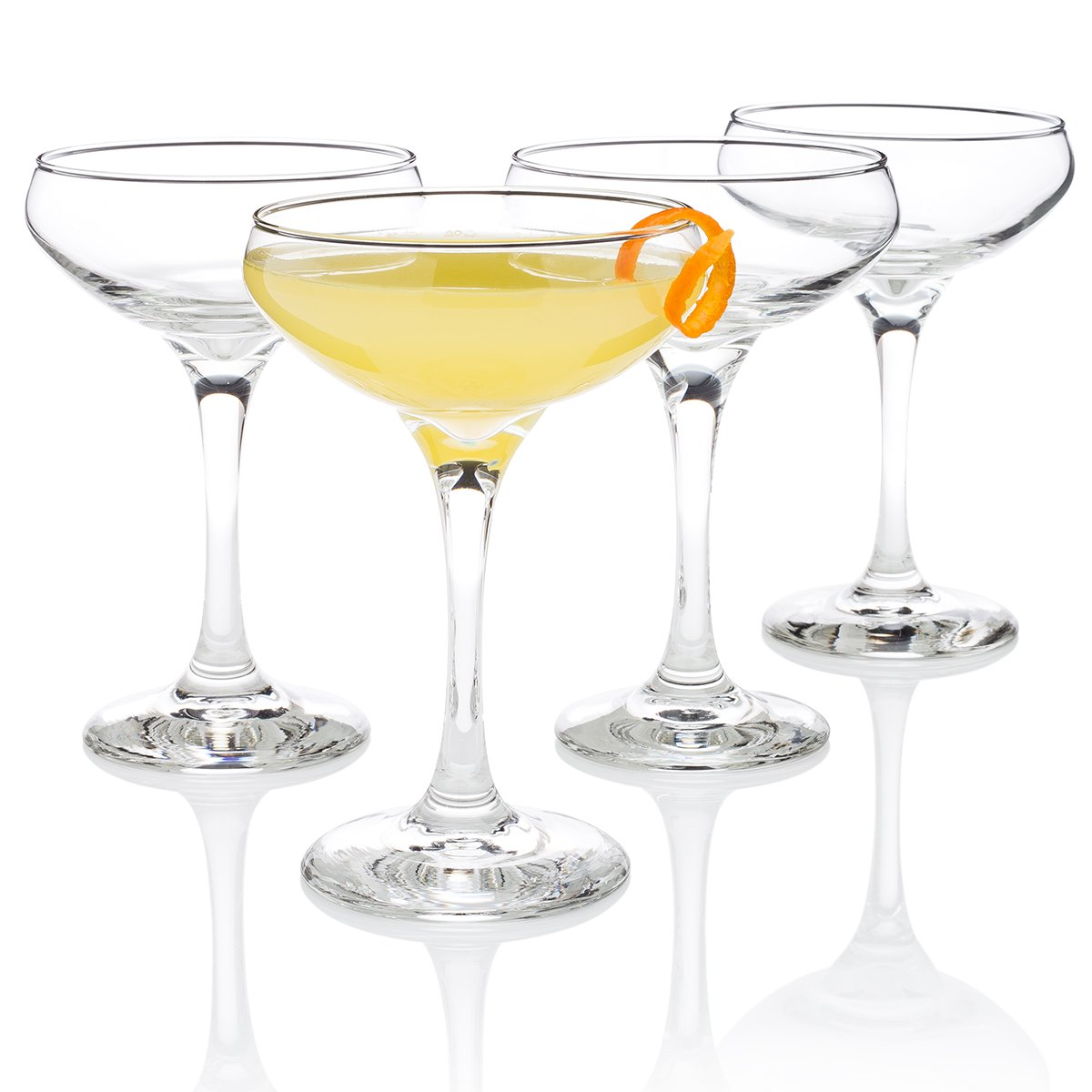 Algonquin Cocktail Glass (''Entertaining Set'' of 4) by HISTORY COMPANY