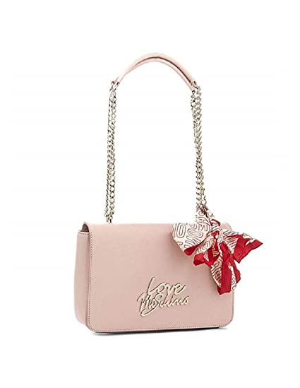 f6552944137 Love Moschino Accessories Medium Logo Shoulder Bag With Scarf One Size  PINK: Amazon.co.uk: Clothing
