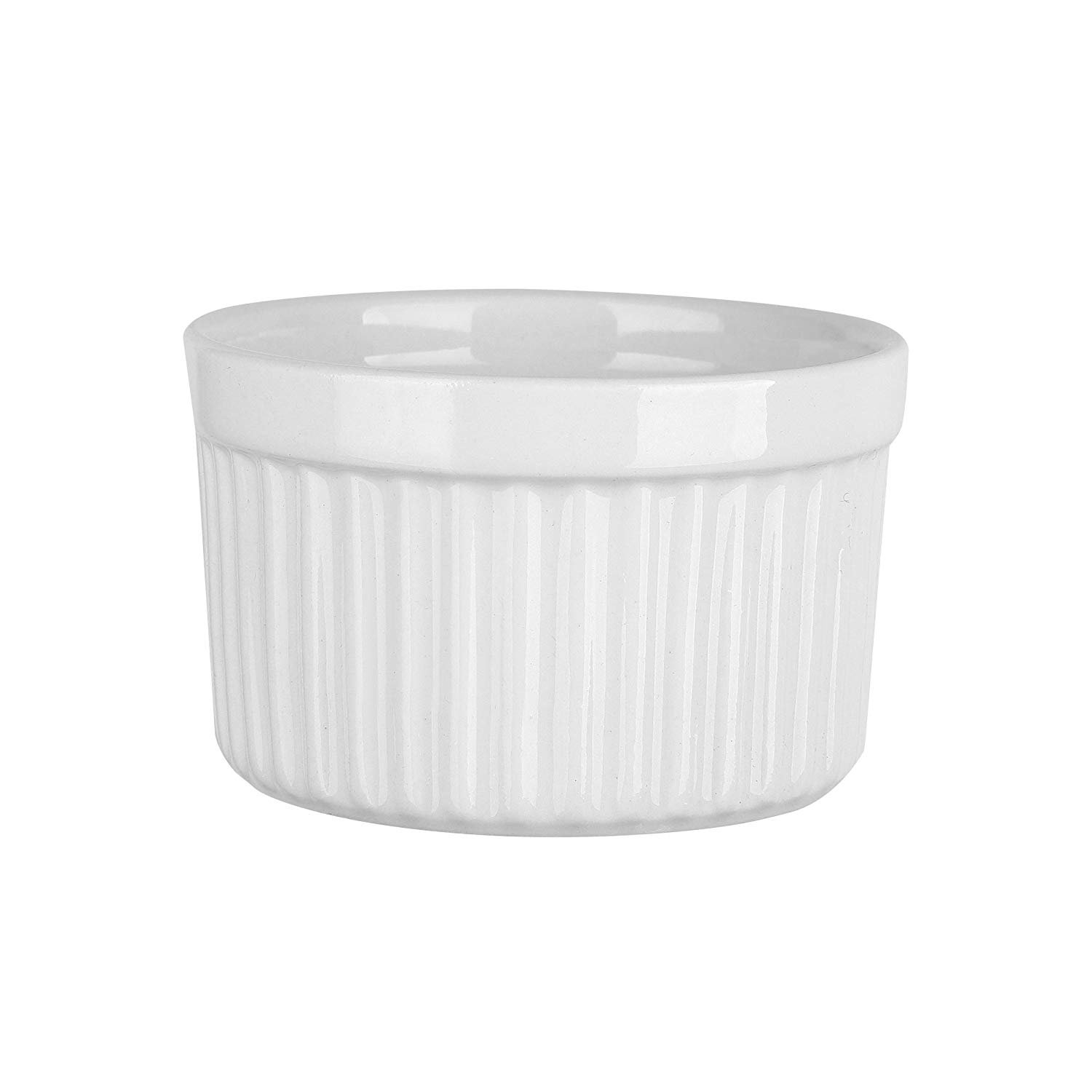4 oz. Porcelain Ramekins, Porcelain Souffle Dishes, Ramekins for Souffle, Creme Brulee and Dipping Sauces - Set of 8, White by MAMA-AI (Image #3)
