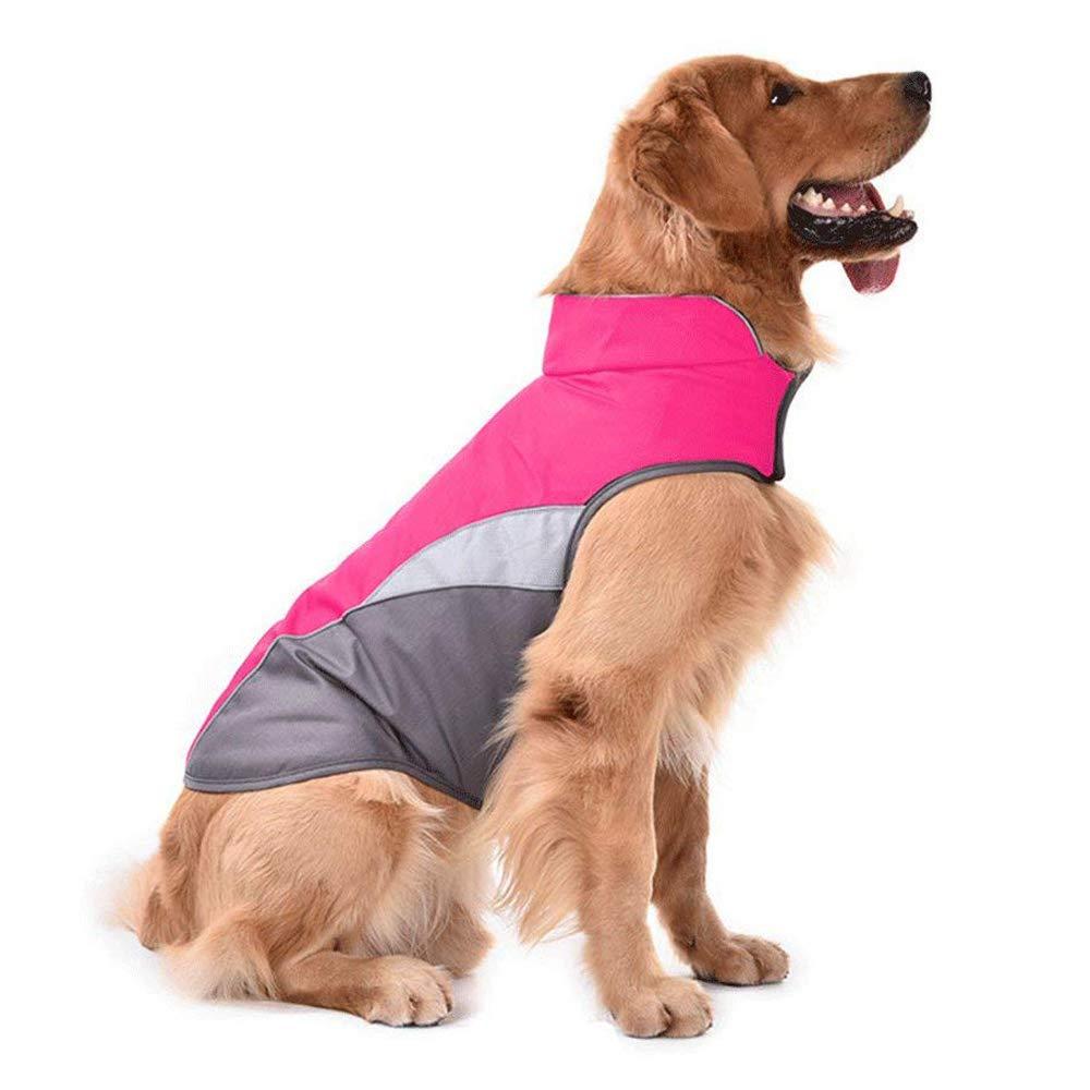 Rosy L Rosy L D-DUK Dog Winter Warm Jacket Dog Cold Weather Coat Dog Windproof Reflective Vest Dog Medium Large Warm Sport Vest Jackets (L, Rosy)