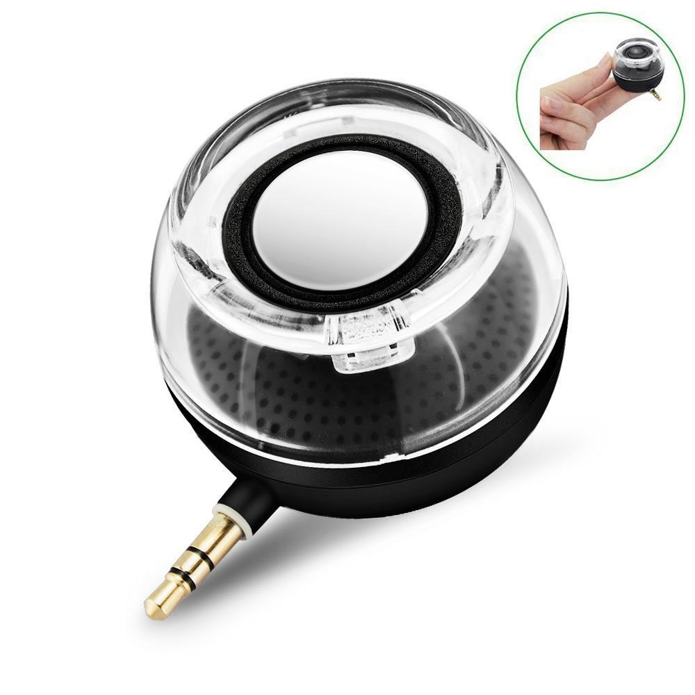 CestMall F10 Portable Compact Mini Speaker, Four Times of the Normal Volume, 3.5MM Audio Input, for iPhone Android Tablet Nevigation PSP MP3 MP4 Black by Deli