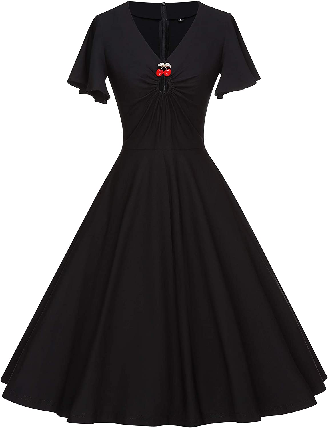 GownTown Womens 1950s Style Stretch Party Swing Dress