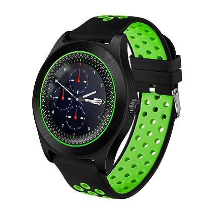 ZKKZ Bluetooth Smartwatch 2G SIM/TF Tarjeta Mp3 playe para Apple ...