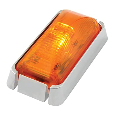GG Grand General 76415 Amber/Amber Marker Light (Small Rectangle 1-LED with Clear Rim and Pigtail): Automotive
