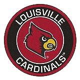 NCAA University of Louisville Cardinals Rounded Non-Skid Mat Area Rug