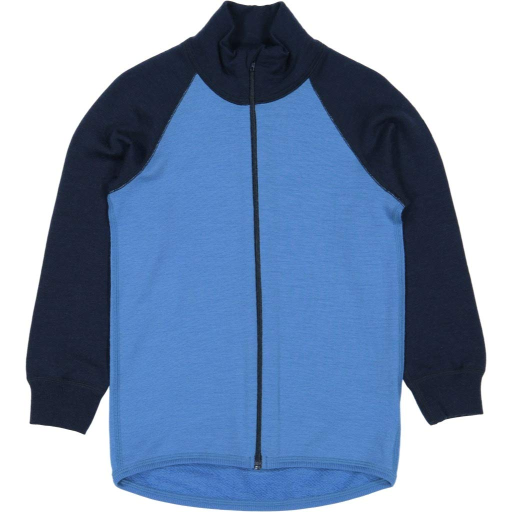 Polarn O. Pyret Merino Wool Terry Zip UP (2-6YRS) - French Blue/4-6 Years by Polarn O. Pyret