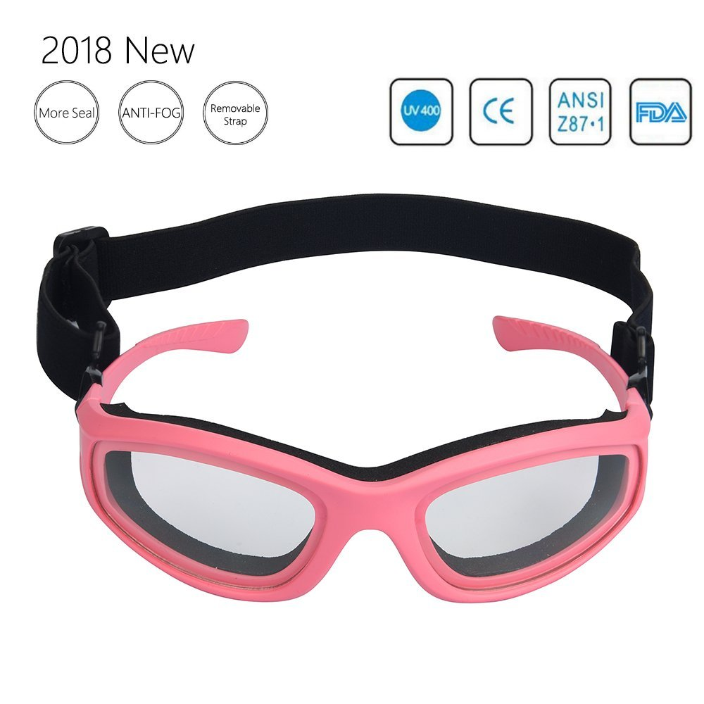 Upgrade Onion Goggles Barbecue Goggles for Grilling BBQ Food - Tears Free Protector - Sports Goggles - Multipurpose Goggles with Adjustable Removable Strap (Pink)