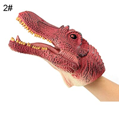 Cuiedailqhb Simulation Dinosaur PVC Hand Puppet Doll Intelligent Role Play Toy Kids Gift - Red Spinosaurus: Toys & Games