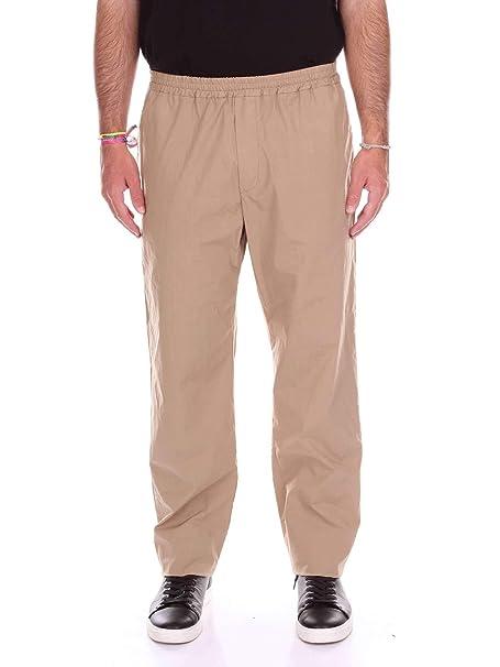 51b6ee3b69 MSGM Pantaloni Uomo 2240Mp17t17402323 Cotone Beige: Amazon.it ...