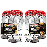 Power Stop KC5468-36  Z36 1-Click Truck and Tow Brake Kit (with Carbon-Ceramic Pads, Drilled and Slotted Rotors and Powder Coated Calipers)