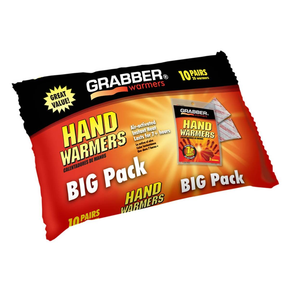 80 Grabber 40 Pairs Grabber Warmers Big Pack 7 Hours Hand Warmers