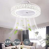 LED plafond verlichting met op afstand bedienbare ventilator aan het plafond, een moderne vogelnest met verlichting…