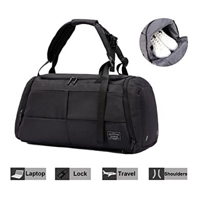 01ad95879d61 Travel Luggage Duffel Bag NeSus Lightweight Gym Bag Anti-theft Backpack  (Black)