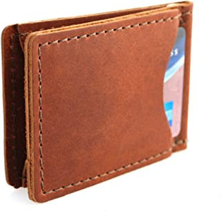 product image for Rustico Handmade - Rustic Leather Money Clip, Saddle Brown