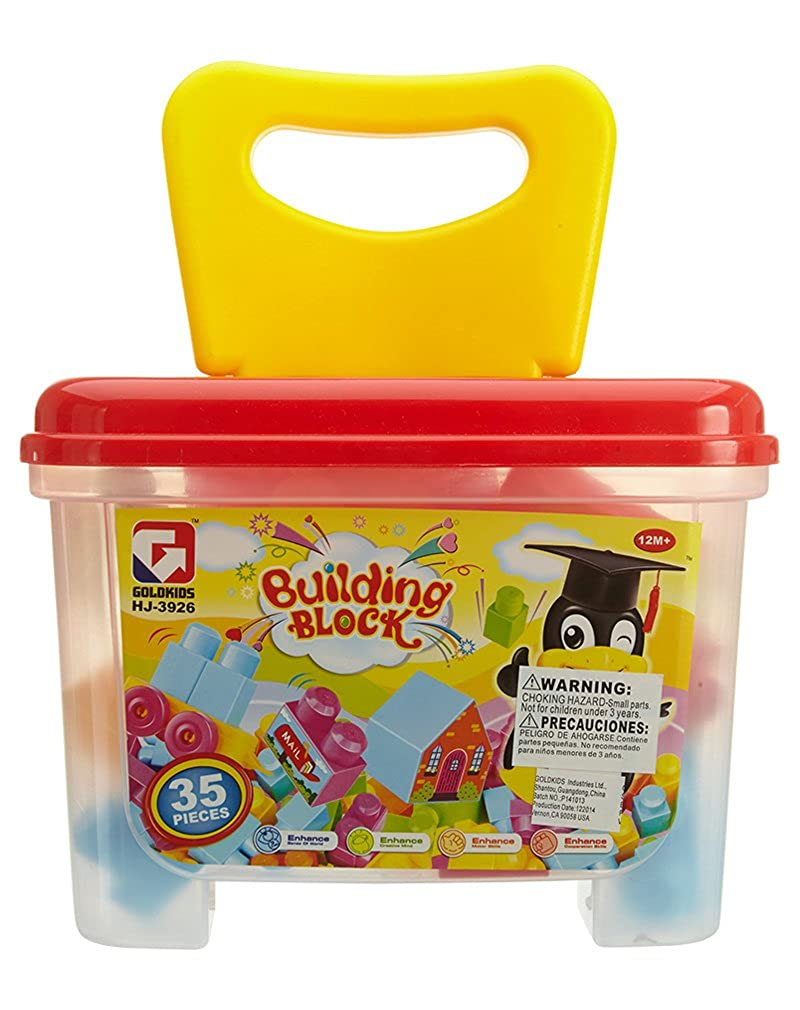 Amazon.com: Goldkids Building Blocks 35 Pieces Box Toddlers Style: HJ-3926-MLT Size: OS: Shoes