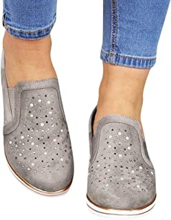 Hotcl_Autumn Winter Shoe Women Platform Slip On Loafers,Comfort Wide Low Top Wedge Shoes Flats Ankle Boots Fitness Sneakers