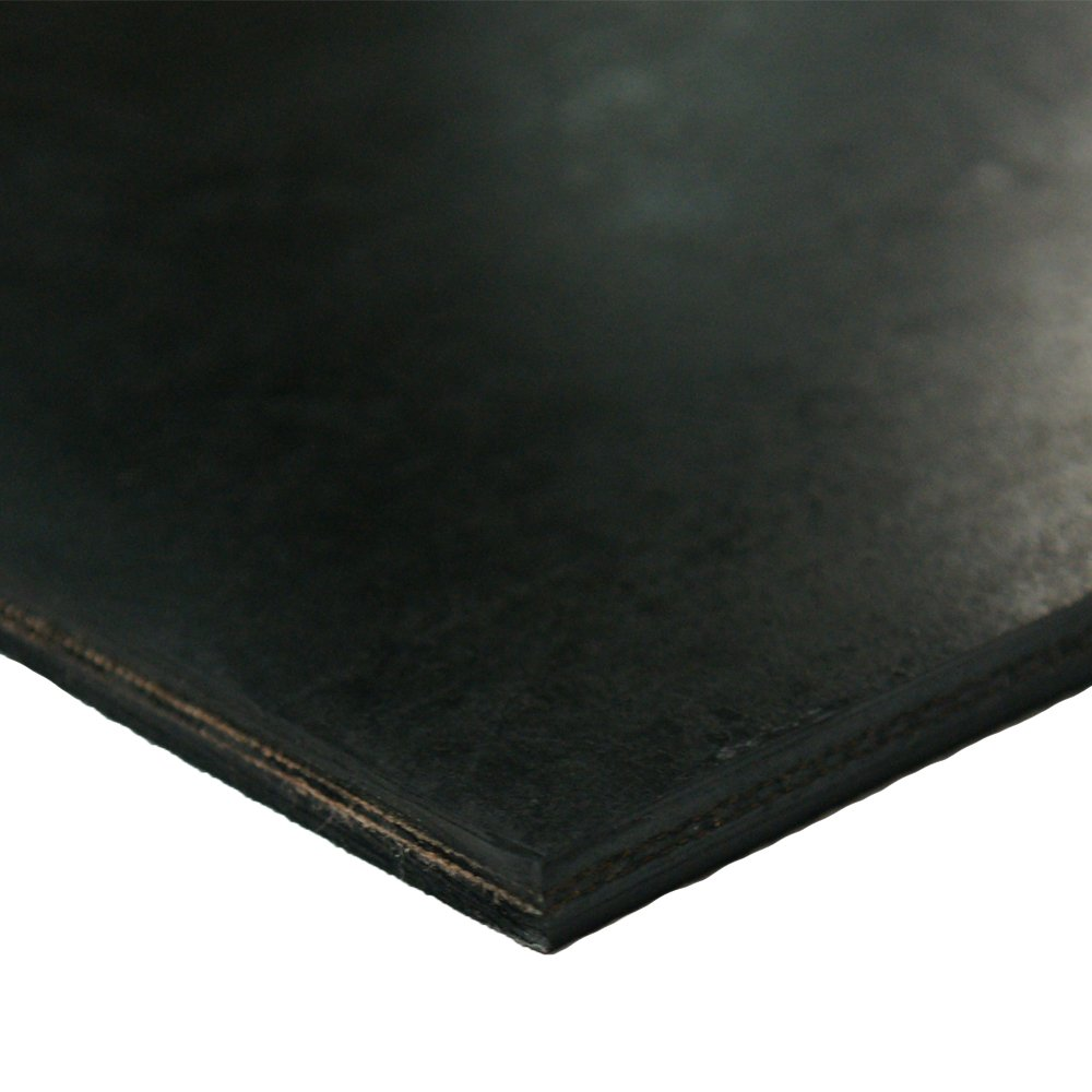 Thick x 10 Width x 48 Length Black .30 Rubber Sheet 2Ply Rubber-Cal Heavy Black Conveyor Belt