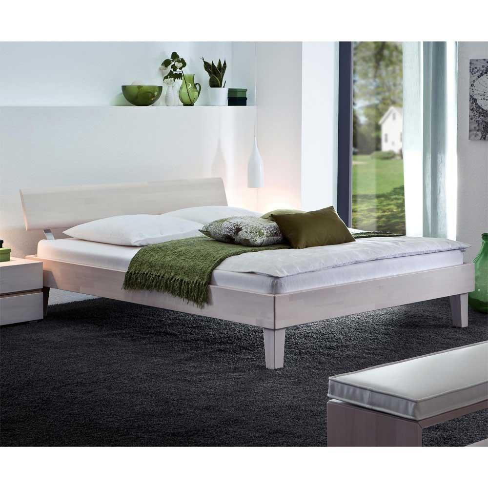 Betten Doppelbett Buche weiss Nelia Ausführung 7 Pharao24