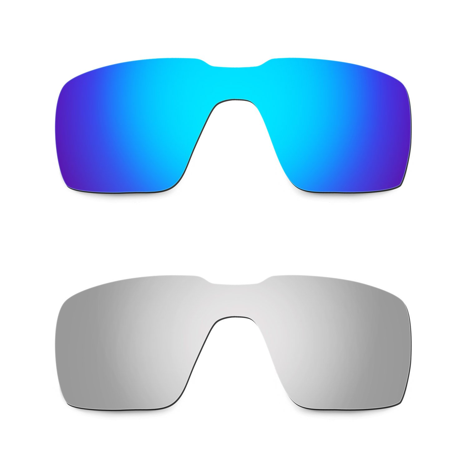 Hkuco Mens Replacement Lenses For Oakley Probation Blue/Titanium Sunglasses