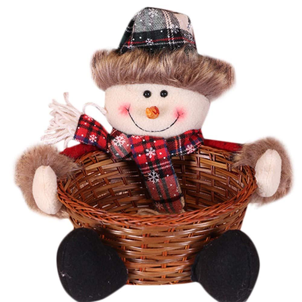 SamMoSon Cesto di stoccaggio di Caramelle di Natale Decorazione Cesto di immagazzinaggio di Babbo Natale - Cesto di Caramelle di Natale 1B