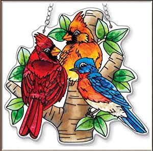 AMIA - Cardinal - Nested Birds Medium Water Cut Suncatcher