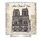 Pixels Shower Curtain (74'' x 71'') ''Notre Dame De Paris''