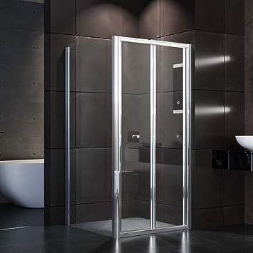 Cabina de ducha 70 x 80 de pulidoras de cristal de seguridad eckdusche ducha puertas/ – Mampara de ducha para baño habitaciones de sunnyshowers: Amazon.es: Hogar