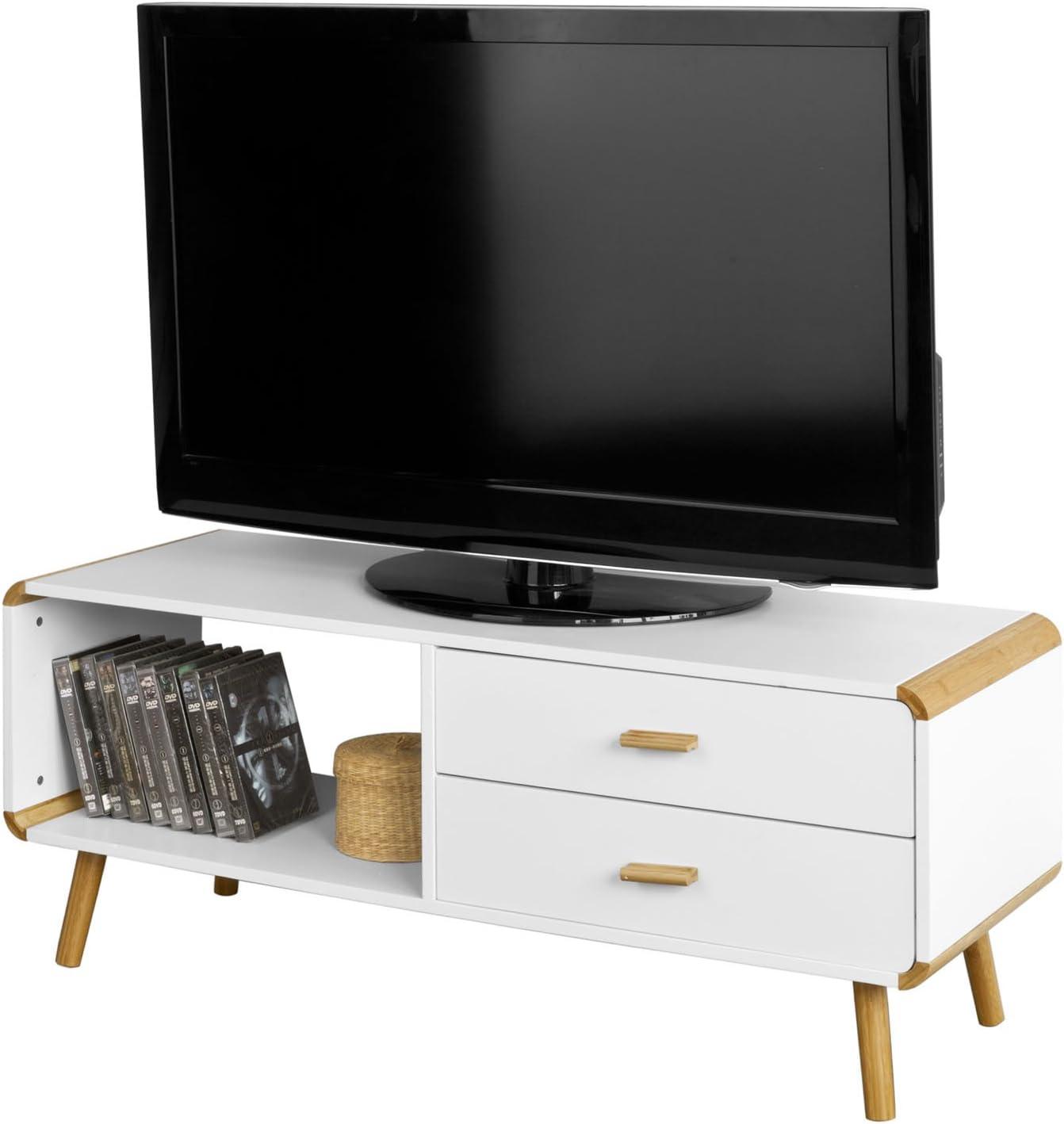 SoBuy Promoción -50% frg148-wn Mueble Banco TV bajo cómoda Armario de almacenaje (L120 cm: Amazon.es: Hogar